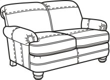 Bay Bridge Nuvo Loveseat without Nailhead Trim