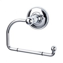 Edwardian Bath Tissue Hook Plain Backplate - Polished Chrome