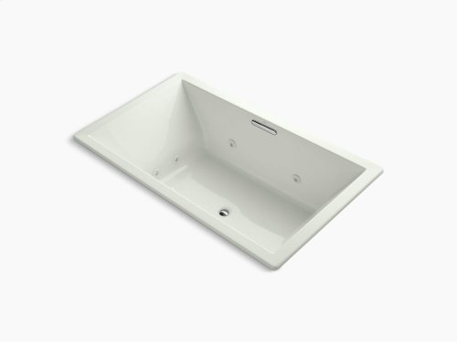"""Dune 72"""" X 42"""" Drop-in Whirlpool With Heater Without Jet Trim and With Center Drain"""