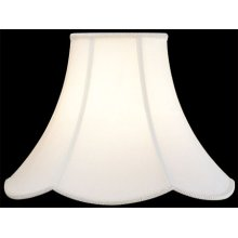 "ANT.SATIN Scallop W/ Trim Shade - 9""tx18""bx14""sl"