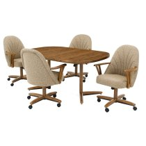 Table Base: Twin Legs (chestnut) Product Image