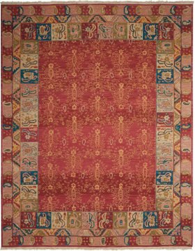 Nourmak Sk93 Rust Rectangle Rug 7'10'' X 9'10''