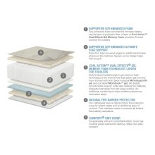 Serta® iComfort® Dawn Mist Deluxe Firm Foam Crib and Toddler Mattress - iComfort Dawn Mist Deluxe Firm Foam Crib and Toddler Mattress