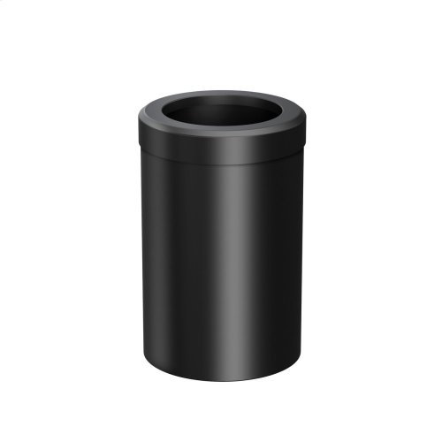 Round Modern Waste Can in Matte Black