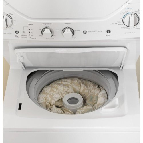 GE Unitized Spacemaker® 2.3 cu. ft. Capacity Washer with Stainless Steel Basket and 4.4 cu. ft. Capacity Gas Dryer