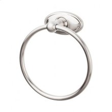 Edwardian Bath Ring Oval Backplate - Brushed Satin Nickel