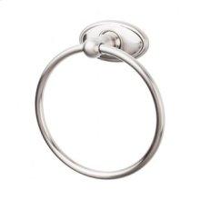 Edwardian Bath Ring Oval Backplate - Brushed Satin Nickel