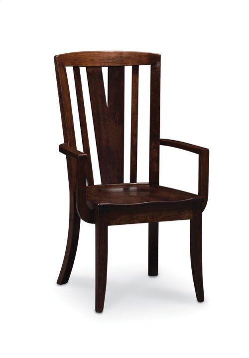 Geneva Arm Chair, Wood Seat