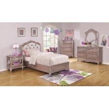 Caroline Metallic Lilac Full Five-piece Set