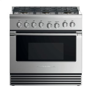 "Fisher & PaykelDual Fuel Range, 36"", 6 Burners, LPG"