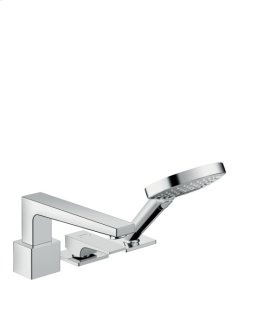 Chrome Metropol 3-Hole Roman Tub Set Trim with Lever Handle, 2.0 GPM