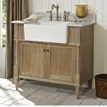 "FAIRMONT DESIGNSRustic Chic 36"" Farmhouse Vanity - Weathered Oak"