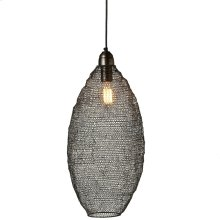 Gunmetal Hand Woven Tall Wire Oval Pendant. 40W Max. Hard Wire Only.