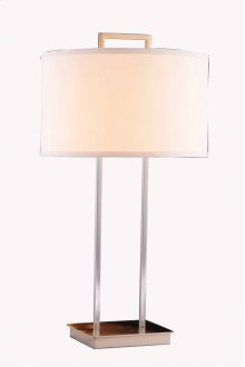 1 Light Table Lamp with Metal Body & Brushed Nickel Finish