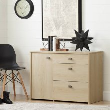 Storage Unit with File Drawer - Natural Maple