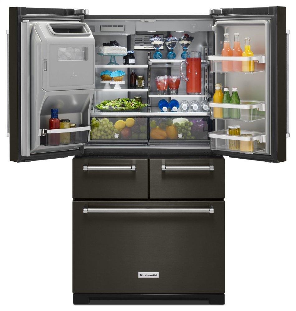 kitchenaid 5 door refrigerator review freestanding refrigerator ft 36 krmf706ebs in black stainless by kitchenaid woodward ok 258