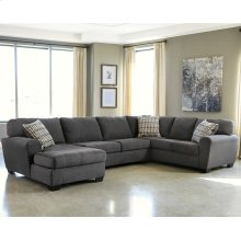 Benchcraft Sorenton 3-Piece Right Side Facing Sofa Sectional in Slate Fabric [FBC-2869SEC-3RAFS-SLA-GG]