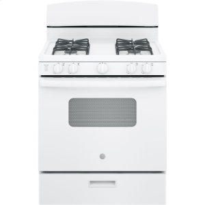 "GE®30"" Free-Standing Front Control Gas Range"