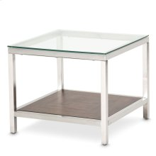 Diversey End Table W/glass Top