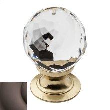 Venetian Bronze Crystal Cabinet Knob