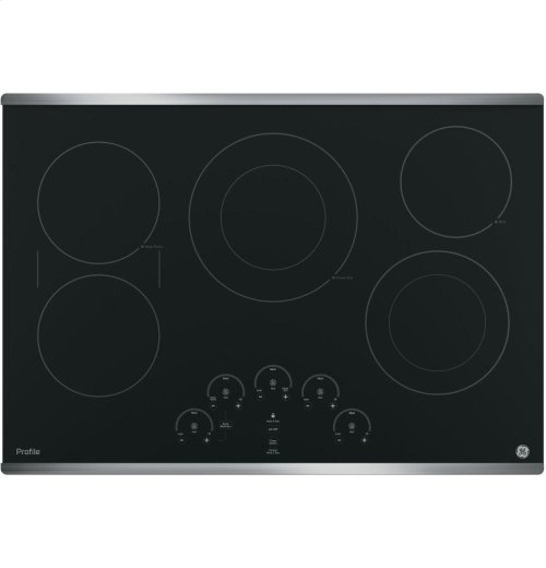 """GE Profile Series 30"""" Built-In Touch Control Electric Cooktop"""