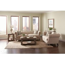 Trivellato Traditional Oatmeal Three-piece Living Room Set