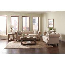 Trivellato Traditional Oatmeal Three-piece Living Room Set