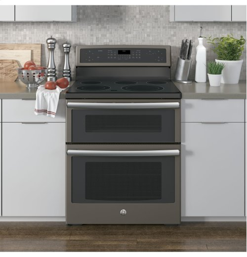 """GE Profile Series 30"""" Free-Standing Electric Double Oven Convection Range"""