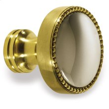 "1 1/4"" Knob - Polished Brass and Polished Nickel"