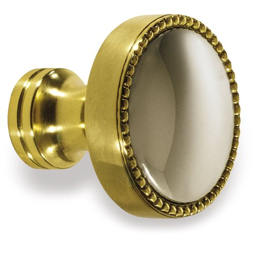 "1 1/4"" Knob - Polished Brass and Polished Nickel"