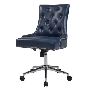 Cadence Bonded Leather Office Chair, Vintage Blue