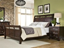 Intercon Bedroom Hayden Sleigh King Bed with Standard Footboard