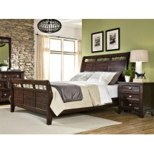 Intercon Bedroom Hayden Sleigh King Bed with Standard Footboard