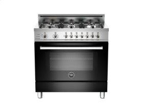 Black 36 6-Burner, Electric Self-Clean Oven