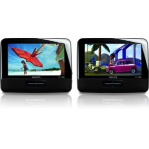 """PHILIPSPhilips Portable DVD Player PD7016 17.8 cm (7"""") LCD Dual DVD players"""