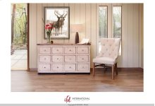 12 Drawer Console - White finish