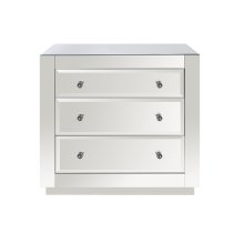 3 Drawer Chest, Beveled Mirror