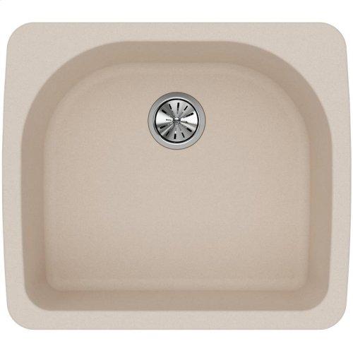 """Elkay Quartz Classic 25"""" x 22"""" x 8-1/2"""", Single Bowl Drop-in Sink, Putty"""