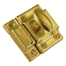 Builders Hardware Polished Brass Cabinet Catch