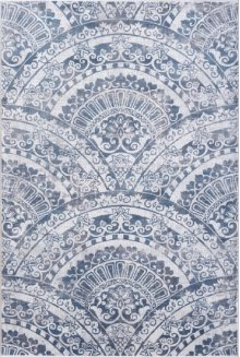 Mosaic Cream/grey/blue 1670 Rug