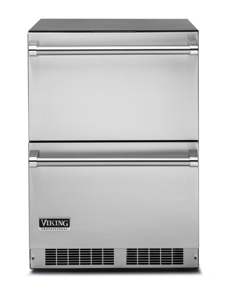 """24"""" Refrigerated Drawers VDUO  STAINLESS STEEL"""