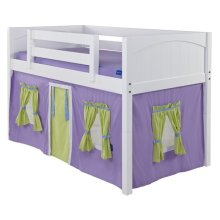 Under Bed Curtain : Purple/Green/Light Blue