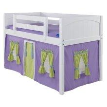 Under Bed Curtain : Purple/Green/Light Blue