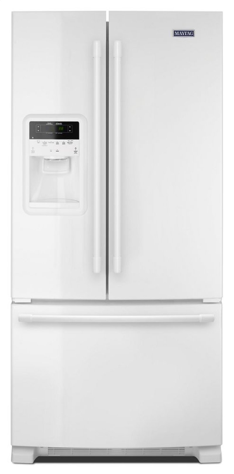 Mfi2269frw in white by maytag in wabash in 33 inch wide french 33 inch wide french door refrigerator with beverage chiller compartment 22 cu ft rubansaba