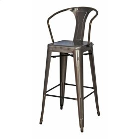 Metropolis Metal Counter Stool, Gunmetal
