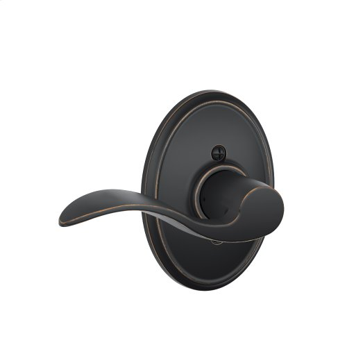 Accent Lever with Wakefield Trim Non-Turning Lock - Aged Bronze