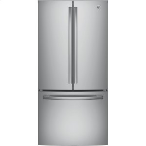 GE® ENERGY STAR® 18.6 Cu. Ft. Counter-Depth French-Door Refrigerator - STAINLESS STEEL