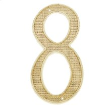 """Polished Brass 4"""" House Number """"8"""""""