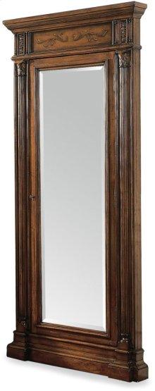 Floor Mirror w/Jewelry Armoire Storage