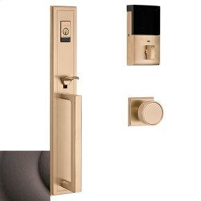 Distressed Venetian Bronze Evolved Hollywood Hills Full Escutcheon Handleset